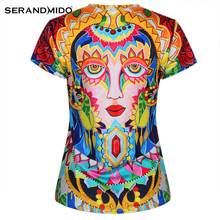 wholesale shorts sleeves digital 3d printing t shirt for women