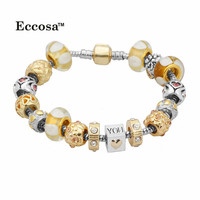 Gold Design Love Gold and Silver Alloy Charms Wholesale Cheap Snake Chain Bracelet Silver 925 for Women