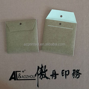 brown kraft clothing brand paper spare button bag
