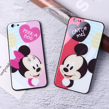 TOMOCOMO Minnie Mickey Cartoon Donald Duck Stitch Daisy Pooh Bear Characters Phone case For iPhone6 6plus 7 7plus 8 8plus X