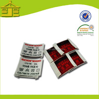 2014 damask fabric woven clothing size tag for jeans labels