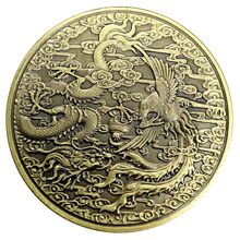 Traditional Chinese Dragon and Phoenix Commemorative Coin
