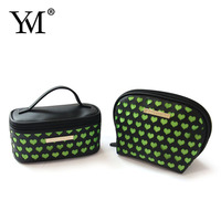 Wholesale OEM promotional custom handing PVC Satin make up cosmetic women bags set