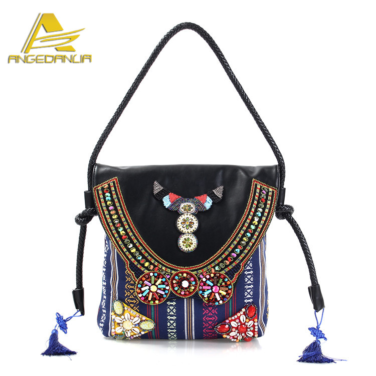 India Fabric Bags BOHO Hippy Gypsy Chic Women Cross body Shoulder Bags Wholesale