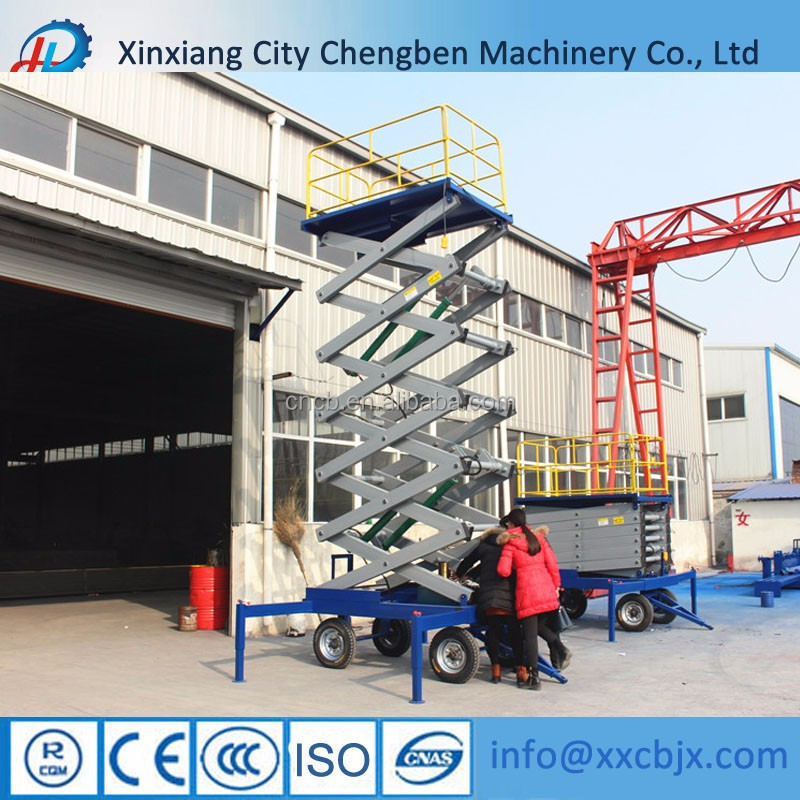 Different models scissor lift used for reparing