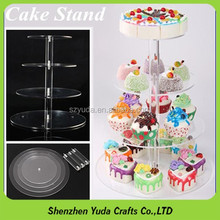 Cupcake acrylic display stand round 5 tiered crystal wedding cake stand