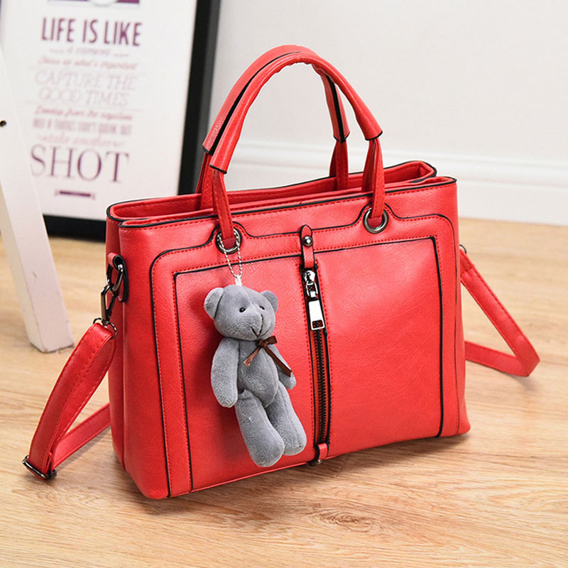 Free shipping Wholesale Fashion Design Customized Leather Lady bags handbag