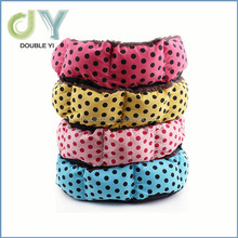 Custom Color dot Pet Dog / Cat Bed Cozy Fleece Soft Plush Cotton Padding Warm Kennel wholesale pet beds