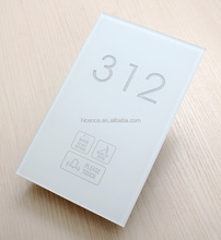 Tempered Glass Hotel Guest Room Service Doorplate with Room Number DND MUR