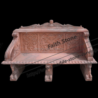 100% Hand Carved Antique Stone Garden Benches for Sale Stone Garden Bench GSB211