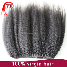 7a Grade Remy Human Hair Weaving Type Extension Brazilian Kinky Straight Hair