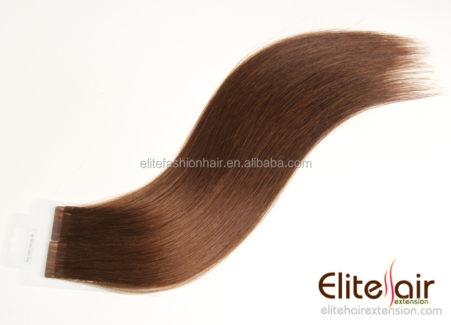 wholesale uk top grade brazilian cuticle remy hair light ash brown tape remy hair extension