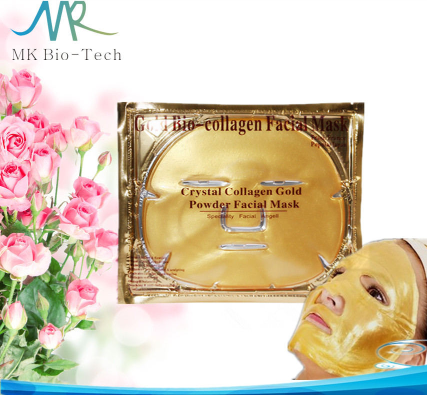 Pure Collagen Crystal face mask / 24k gold facial mask / gold bio-collagen facial mask