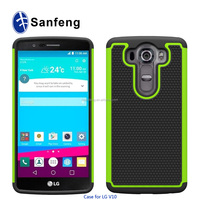 3 in 1 pc+silicon+tpu material handphone cover for LG Optimus G4 Pro V10 H960 hybrid case
