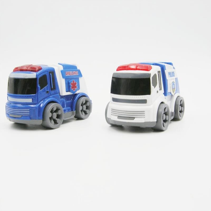 ABS plastic inertia small smart police and ambulance car toy series