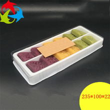 Disposable White Plastic Blister Tray Sushi / Dessert Containers