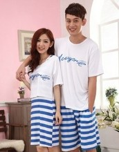 F70005S Summer lovers pajamas suit Ms. Men cotton bed skirts that occupy the home