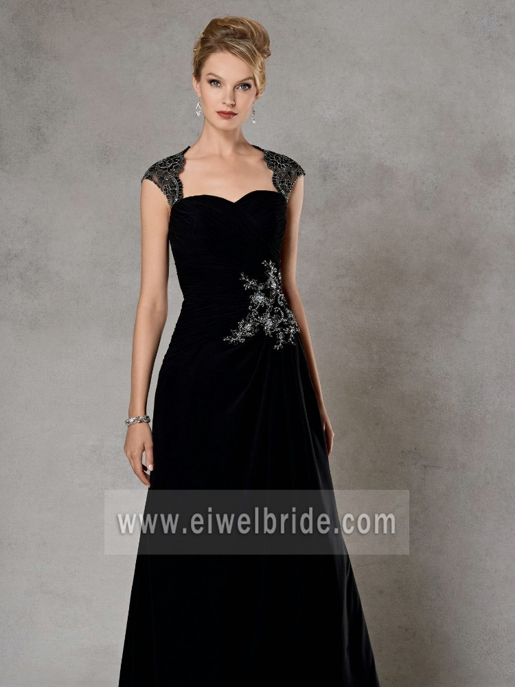 Hot Sexy Sleeveless Beaded Black Sex Mother Of The Bride Dress 4035
