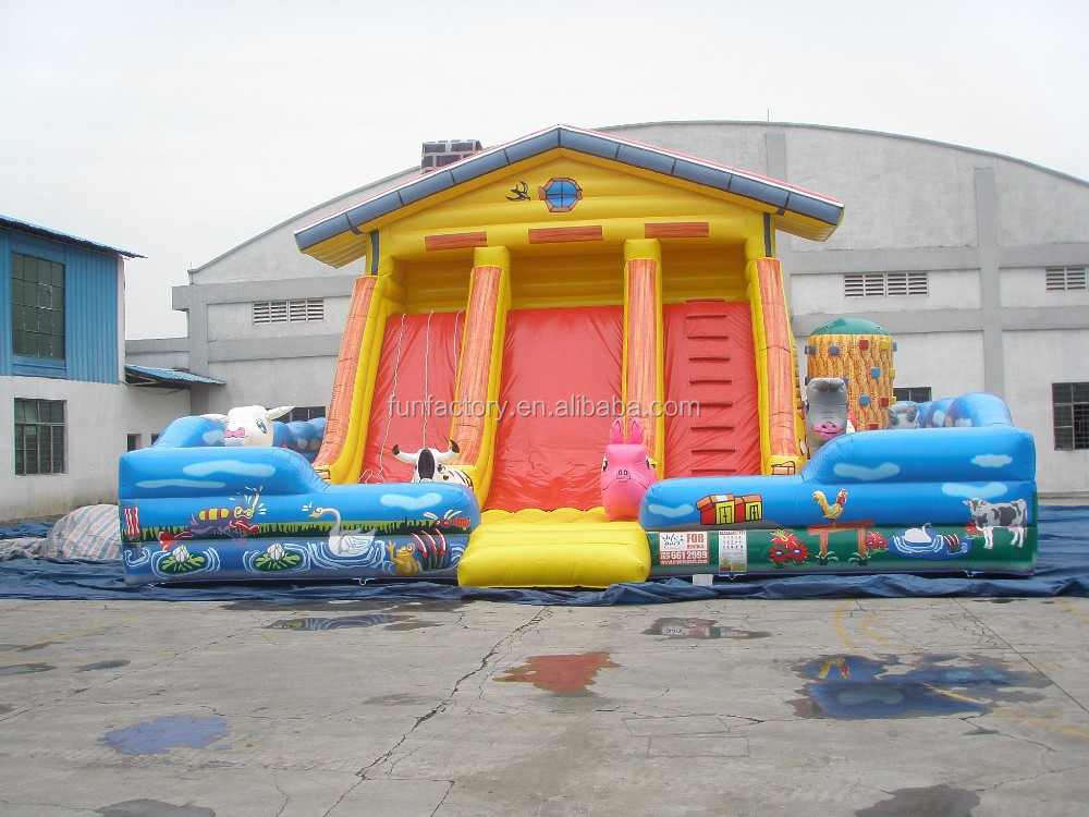 giant inflatable water slide, plastic play house with slide, inflatable titanic slide