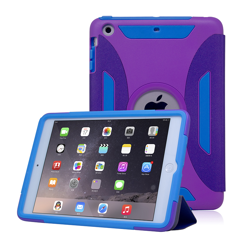 New 3 in 1 Case Cover For iPad Mini 1 2 3 Amor Drop Resistant Shock Proof Tablet PC Case