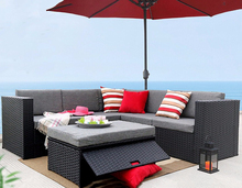 Deluxe Outdoor Patio PE Rattan Wicker Sofa Chaise Lounge Furniture Set