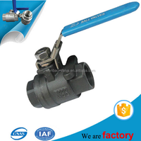 Female Thread 2 Pieces Carbon Steel Ball Valve 2000 WOG A216 WCB Screw Threaded End Ball Valves