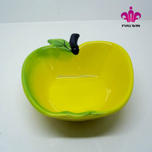 yellow apple design ceramic apple bowl,ceramic salad bowl