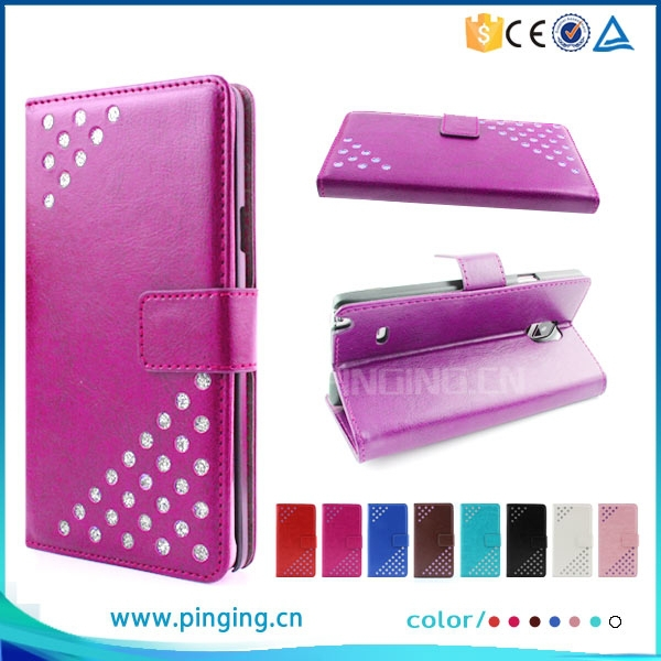 Elegant bling bling case for Infocus M550, pu leather for Infocus M350