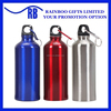 Hot selling cheap promtional logo printed 500ML sport aluminium bottle with carabiner