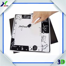 Customized Writing Board magnet paper fridge magnet with pen