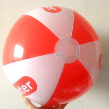 24inch Eco-friendly plastic Custom made branded beach ball inflatable pool float ball for adult