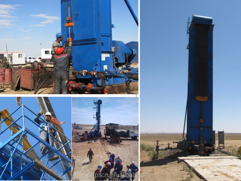 belt pumping unit at oilfield