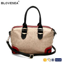 Newest duffle design leisure style lady shoulder bag women handbags factories in China