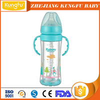 Good quality baby feeding products universal glass milk bottle inflatable baby feeding bottle with certificates