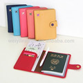 Wholesale Hardcover Custom Colorful PU Leather Passport Cover