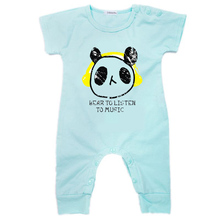 0-24 Months Newborn baby Clothes Organic Cotton rompers Cartoon Short Sleeve Romper Baby YN4005