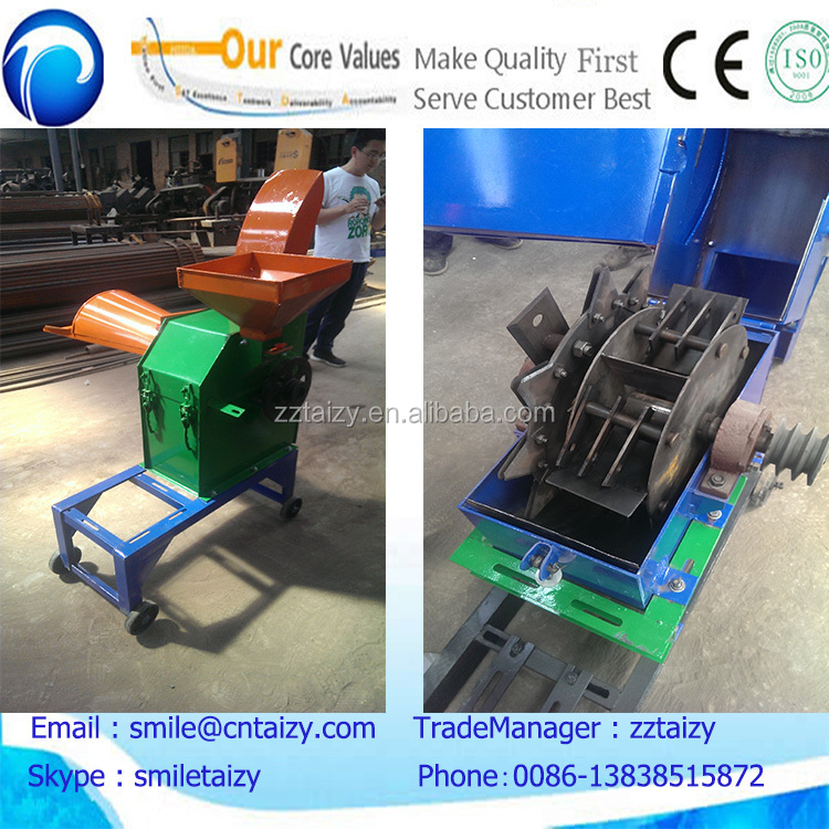 combined grass grain crusher/ hay cutter for sheep