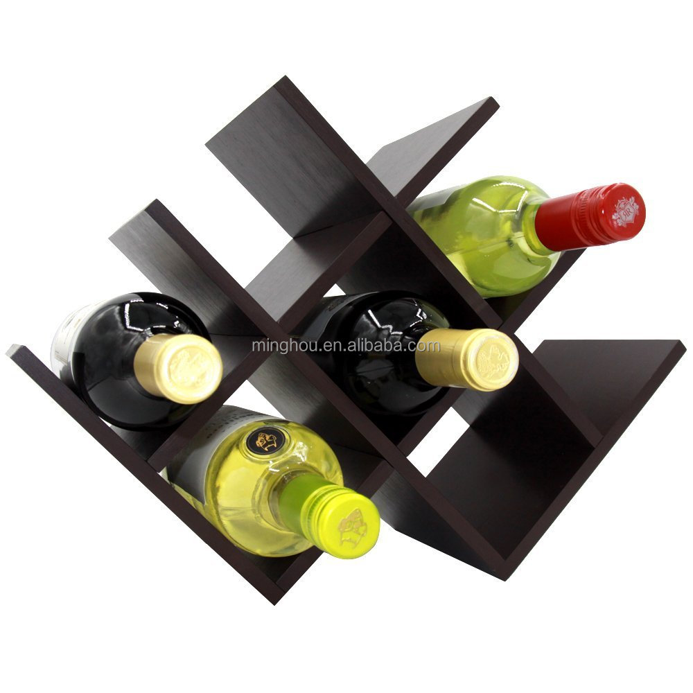 2017 hot sales customize bamboo wooden wine rack for bottle display furniture
