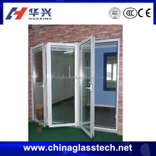 CE&CCC safety heating insulated glass PVC frame plastic folding shower doors