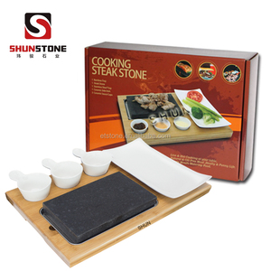 BBQ Stone Cookware Set Basalt Steak Grill Plate Hot Rock Cooking Stone Lava Stone For Cooking