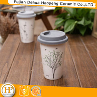 Promotional Drinkware Type Porcelain Coffee Mug with Lid