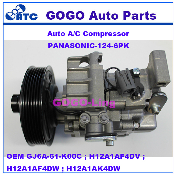 High Quality Auto A/<strong>C</strong> Compressor for MAZDA 3 6 OEM GJ6A-61-K00C ; H12A1AF4DV ; H12A1AF4DW ; H12A1AK4DW
