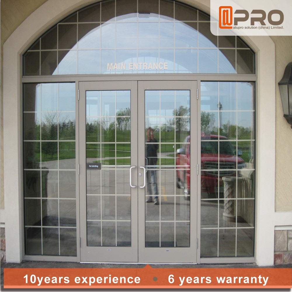 3 Tracks French Triple Powder Coating Cheap Interior Reception Vertical Office Door Price of Aluminium Sliding Window