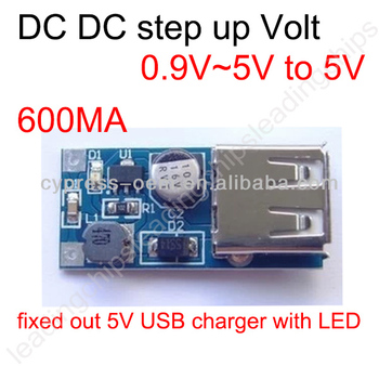 DC-DC booster module (0.9V~5V) to 5V 600MA USB circuit board mobile charger power boost module