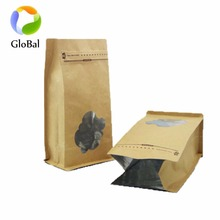wholesales kraft paper stand up pouch flat bottom bags bulk buy from china supplier in shenzhen