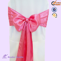 cheap satin chair sash