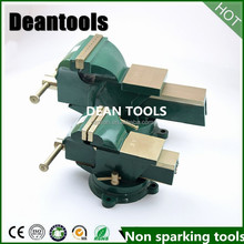 Swivel type bench vise ,non sparking copper beryllium cutting tools cable feeder base table