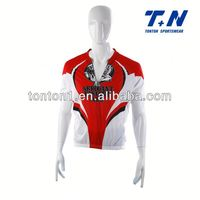mens crane sportswear with collar cycling shirts