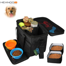 Black Custom Weekend Tote Organizer Cat Dog Travel Carrier Pet Food Bag