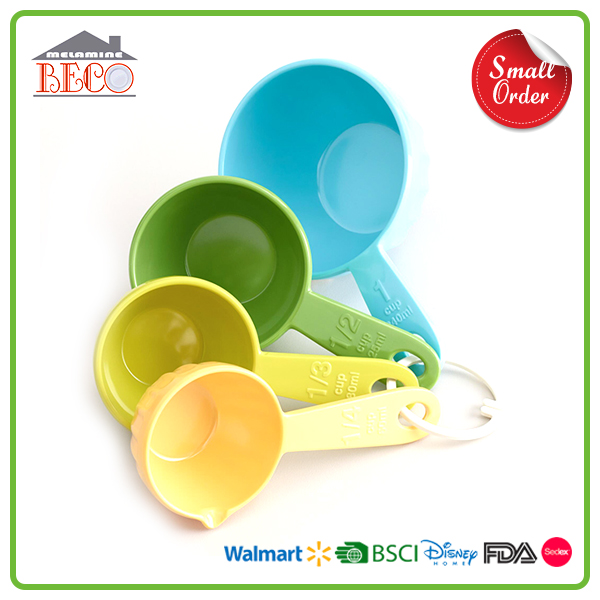 1/4 1/3 1/2 1 Cup Melamine Plastic Measuring Spoon Set With Custom Design